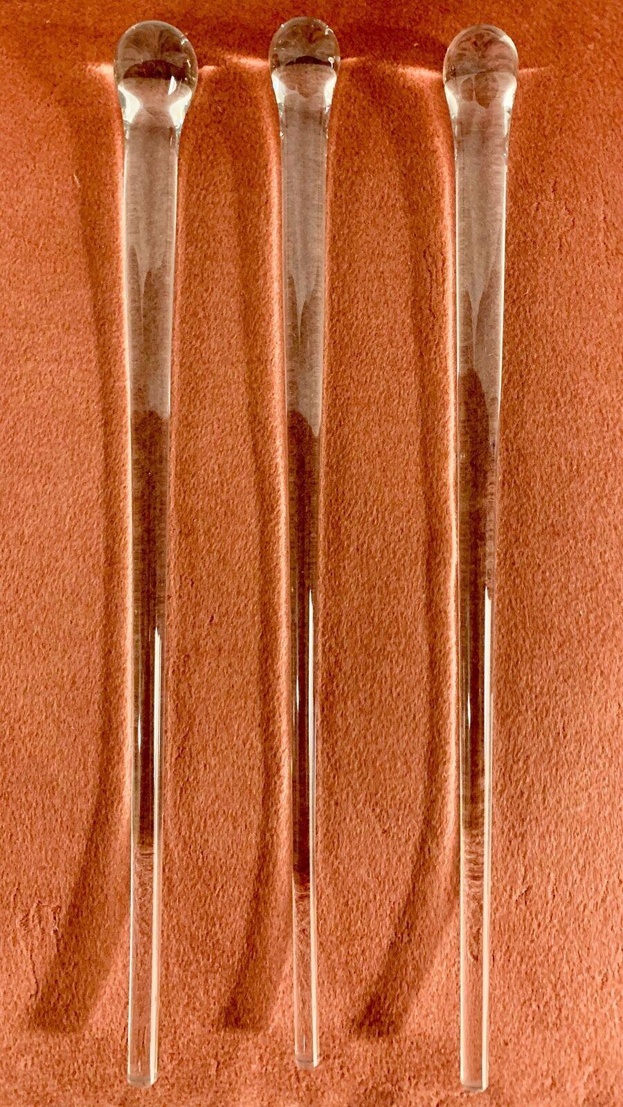 Vintage Hand Blown Glass Stirring Rods - 13