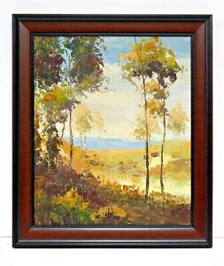 Country-Beach-Scene-20-x-24-Oil-Painting-on-Canvas-w-Custom-Frame