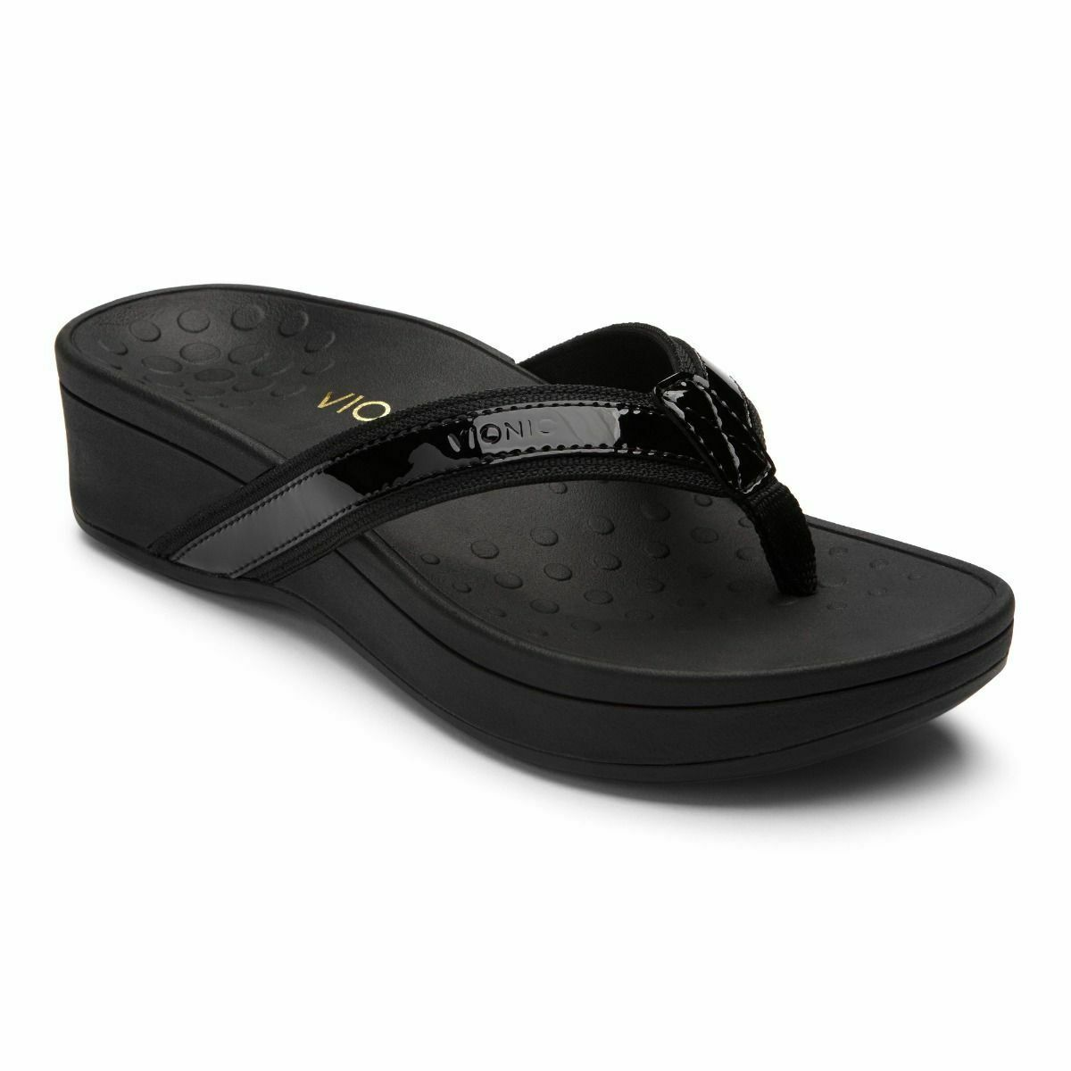 Vionic Orthotic Women's High Tide Platform Sandal - Black