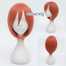 GinTama Kagura Orange Short 30CM Anime Cosplay Wig + Wig Cap