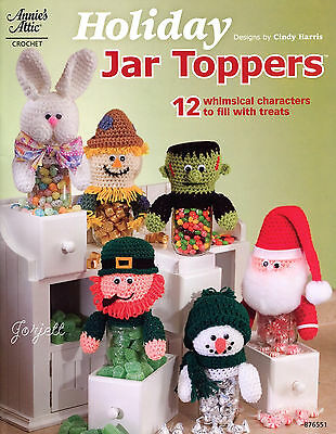 Holiday Jar Toppers ~ 12 Characters, Annie's crochet patterns