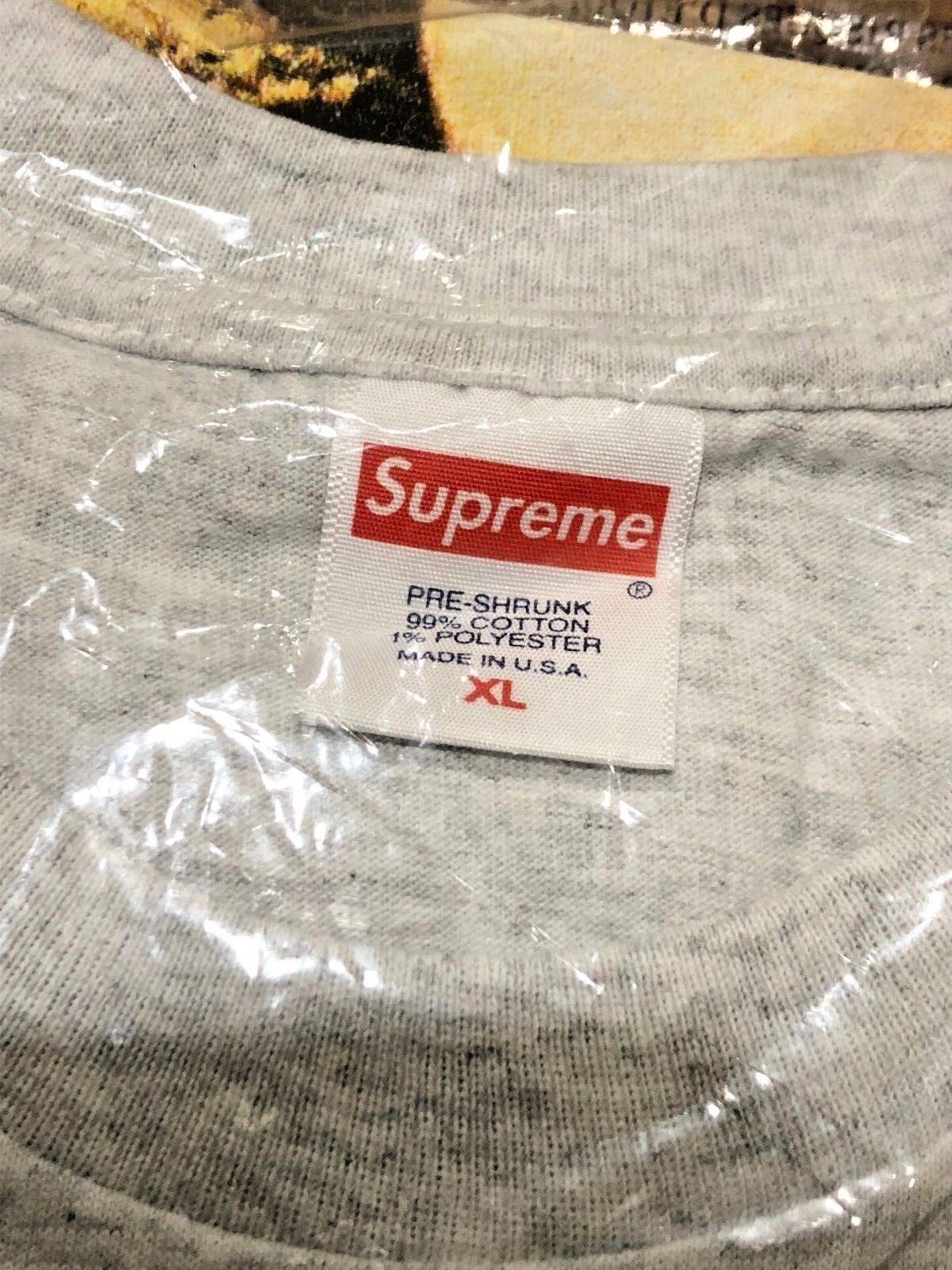 SUPREME grigio FW18 STILL LIFE TEE ASH grigio SUPREME EXTRA LARGE XL AUTHENTIC NEW IN HAND  568ad8