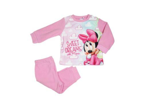 PIGIAMA NEONATA INVERNALE IN PILE bimba Disney Baby MINNIE MOUSE 12//36 mesi-0337