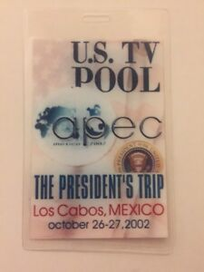 2002-President-George-W-Bush-U-S-TV-POOL-Press-Pass-Los-Cabos-Mexico-APEC