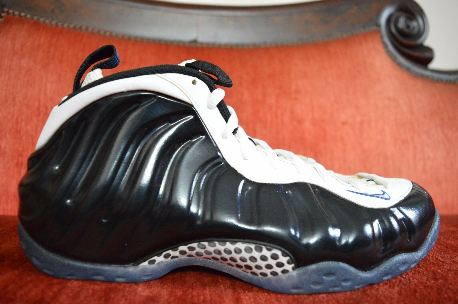 NEW Nike Air Foamposite One MEN SIZE 10 Concord Black White 314996-005 Wild casual shoes