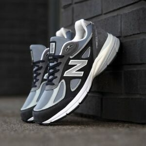 Sneaker 990v4 uomo Lifestyle New da Usa Balance Made MagneteArgento Comfy In Visone fb7y6g