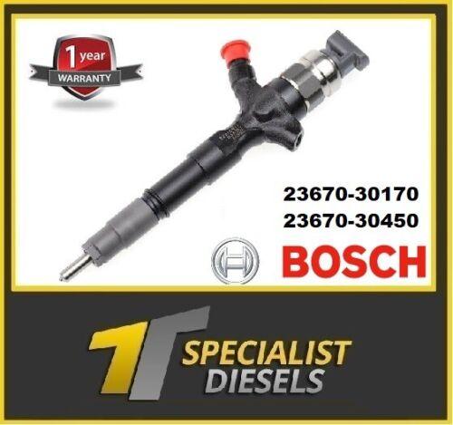 TOYOTA Hilux 3.0 D Ricondizionato Denso Iniettore Diesel 23670-30170