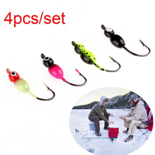 4Pcs Ice Fishing Lure Winter Bait Lead Hard Hook Pike Tilapia Fishing Lure New