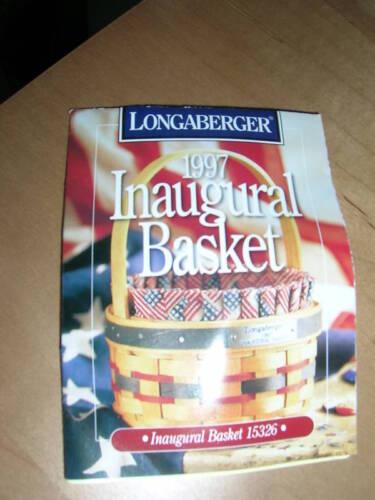 MINT Longaberger 1997 Inaugural Basket w// liner protector /& Tie-On