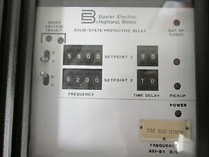 Basler Electric Solid State Protective Relay BE181 OU Frequency
