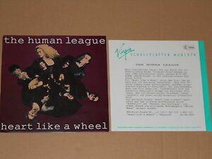 The-Human-League-heart-like-a-wheel-7-034-avec-Product-Facts-PROMO-Flyer