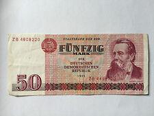 50 Mark 1971 Banknote  Geldschein  Ersatznote DDR absolut Echt !!!