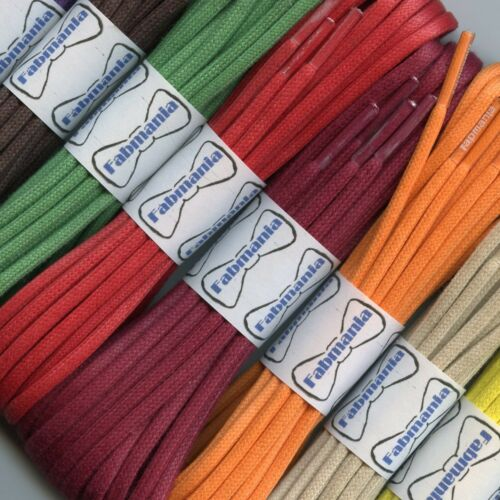 3 mm Green round waxed cotton shoe laces 120 cm for shoes and boots 45 cm
