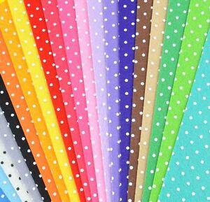 Polka dots polar fleece fabric by the yard color options for Polka dot felt fabric