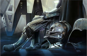 Isolation and Confinement Sith Lord Darth Vader Star Wars Art Giclée on Canvas