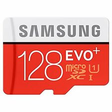 SAMSUNG 128 GB MICRO SD MEMORY CARD EVO PLUS CLASS 10 WITH ADAPTOR & 10 YR WRNTY