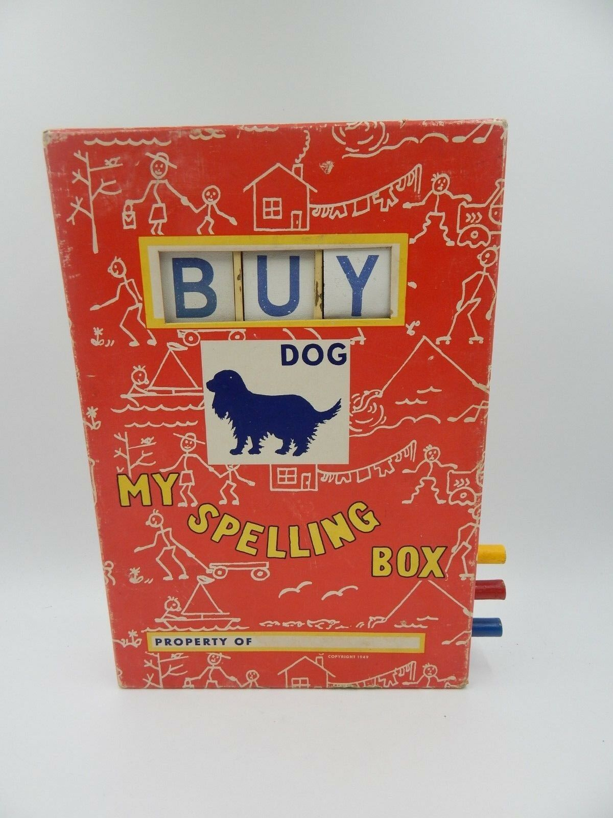 My Spelling Box  Vintage Toy Lodge Toys 1949 Educational Rare HTF