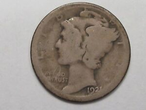 KEY-AG-1921-US-Mercury-Dime-17