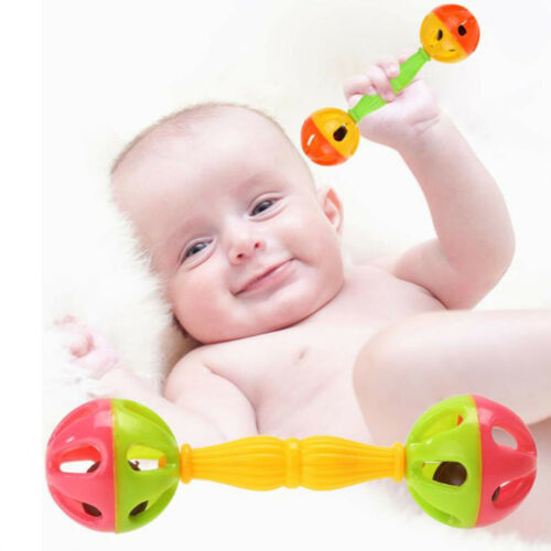 Cute Plastic Kids Baby Rattle Toy Shaking Bells Lovely Early Educational Toy