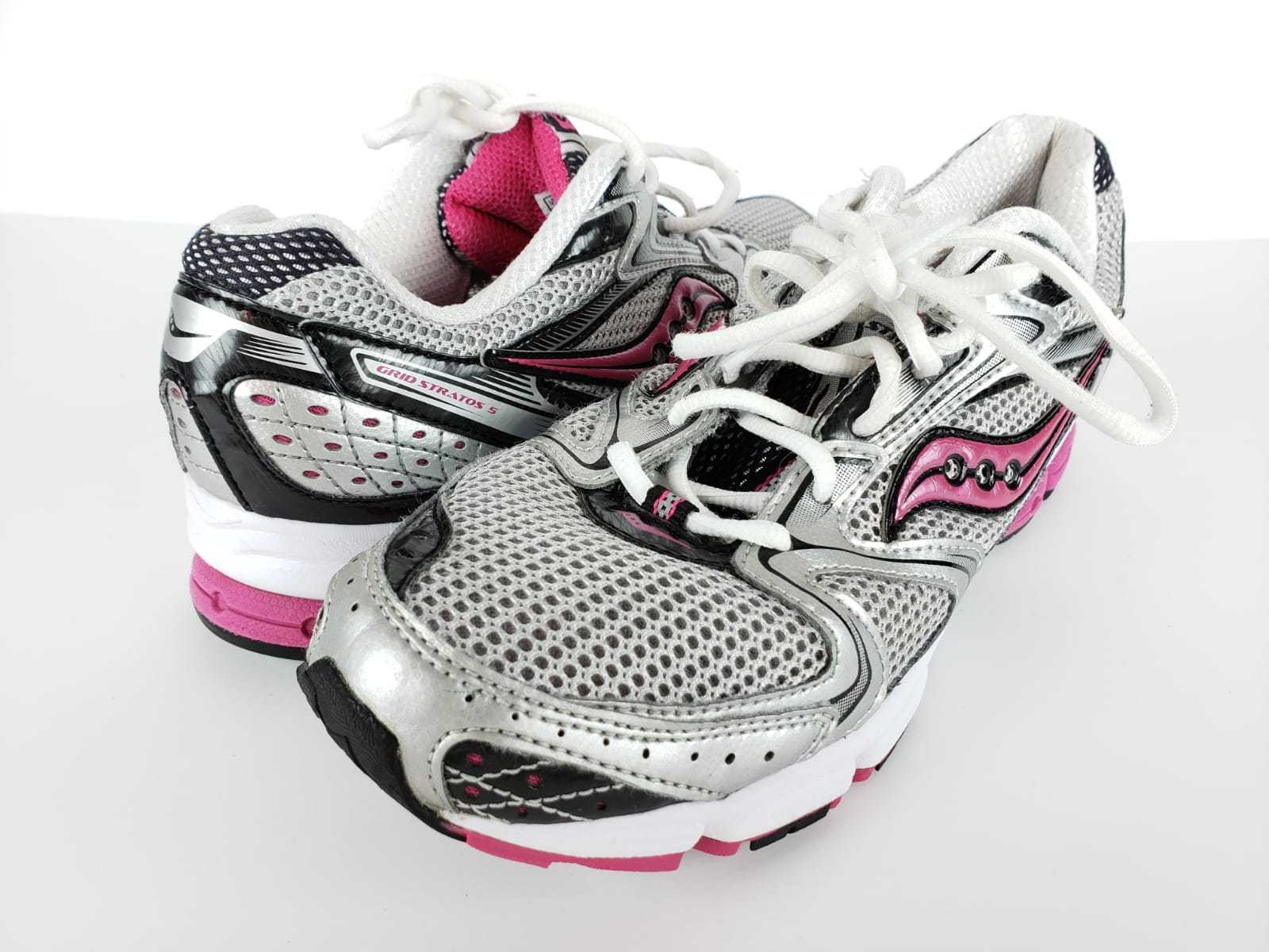 Saucony  Womens Gray Athletic Running Training Shoes Size 9 Gray Womens Pink sneakers 12efd7