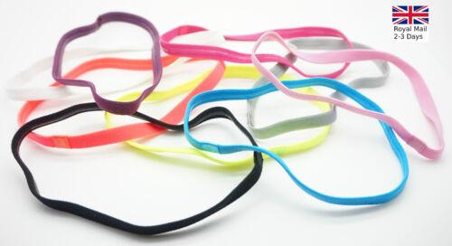 UK Women Man Headband Hair Rope Elastic Yoga Sports Gym Stretch Band Accessories