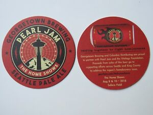 Beer-COASTER-GEORGETOWN-Brewing-Pearl-Jam-Home-Shows-Seattle-Pale-Ale-WASH