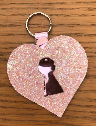 Plastic hair bow template  Heart keyring