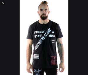 Details about  /KLEEP  BLACK FREEDOM IS A STATE OF MIND JERSEY T-SHIRT SIZE MEDIUM    NEW