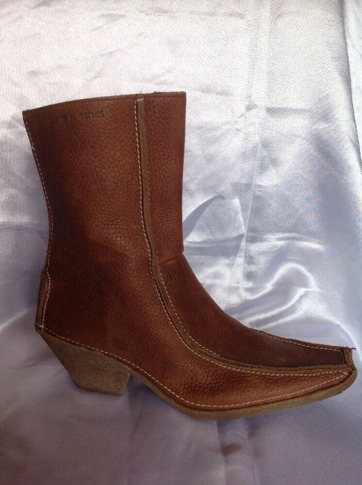 Catarina Martins Brown Ankle Leather Boots Size 41