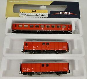 Dr-Train-de-Secours-3tlg-DB-Rouge-heris-80010-H0-1-87-Neuf-HA1-A