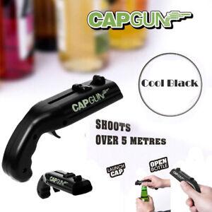 Cap-Gun-Launcher-Shooter-Bottle-Opener-Beer-Opener-Shoot-Over-5-Meters-Lot-Black