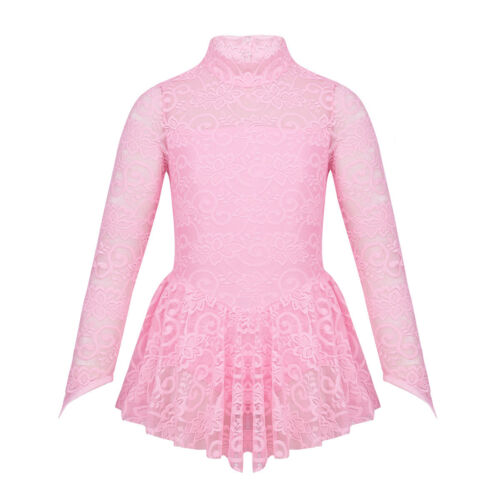 Kid Girls Ballet Dress Ice Skating Dancewear Lace Gymnastics Leotard Costume