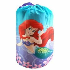 Disney Little Mermaid Ariel Indoor Slumber Sleeping Bag w/Carry Drawstring