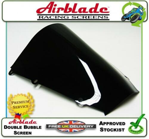 NEW AIRBLADE DOUBLE BUBBLE SCREEN DARK SMOKED TINT FITS HONDA CBR600RR 03-04