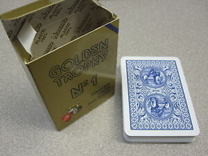 Modiano-Plastic-Playing-Card-Deck-GOLDEN-TROPHY-BLUE-Made-in-Italy-New