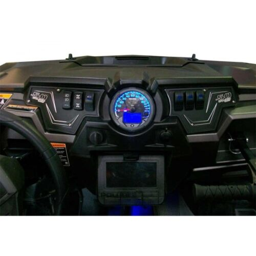 50 Caliber Racing Polaris RZR XP1000 Aluminum Black Dash Switch Panel Plate