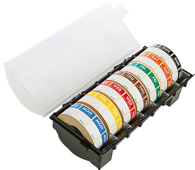 Day Dot Food Label Dispenser 7 Rolls of 1000 25mm Labels//Catering Stickers