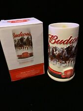 Budweiser Holiday Beer Stein 2010 Clydesdales Dashing Through The Snow