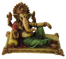 Hindu Lord Ganesh Marble God Elephant Ganesha Idol Statue Wealth Prosperity