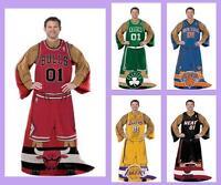 Nba Licensed Comfy Fleece Afghan Throw Blanket With Sleeves - Choose Your Team