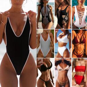 Women/'s One Piece Monokini Push Up Padded Bikini Swimsuit Swimwear Bathing AP