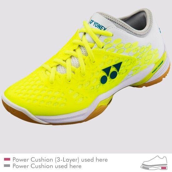 2018 Yonex Power Cushion SHB03 Z Mens Badminton schuhe, Gelb, Fit & Stability