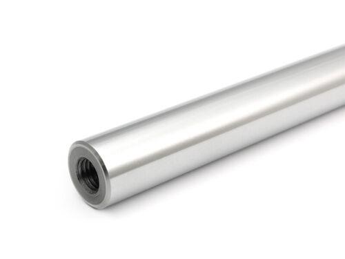 Präzisionswelle 12mm h6 geschliffen gehärtet 100mm Gewindebohrungen M6x20
