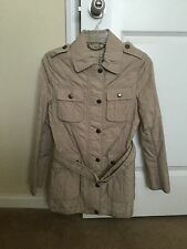 New Authentic Beige Quilted BURBERRY Jacket Coat S 38