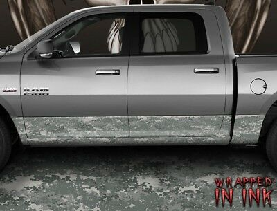 Snow Camo Rocker Panel Graphics Decal Wrap Truck SUV Birch Oak Mossy Camouflage