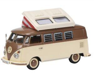 Schuco-DieCast-Model-Car-1-43-VW-Volkswagen-T1c-Camping-bus-brown-beige