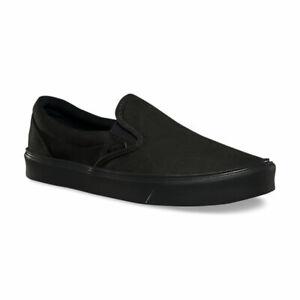 3fd3ca744f726f Vans Slip On Lite Canvas Black Black Men s Classic Skate Shoes Size ...