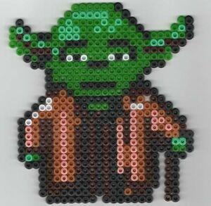 Details About Maître Yoda Star Wars Bead Sprite Perler Pixel Art Perles à Repasser