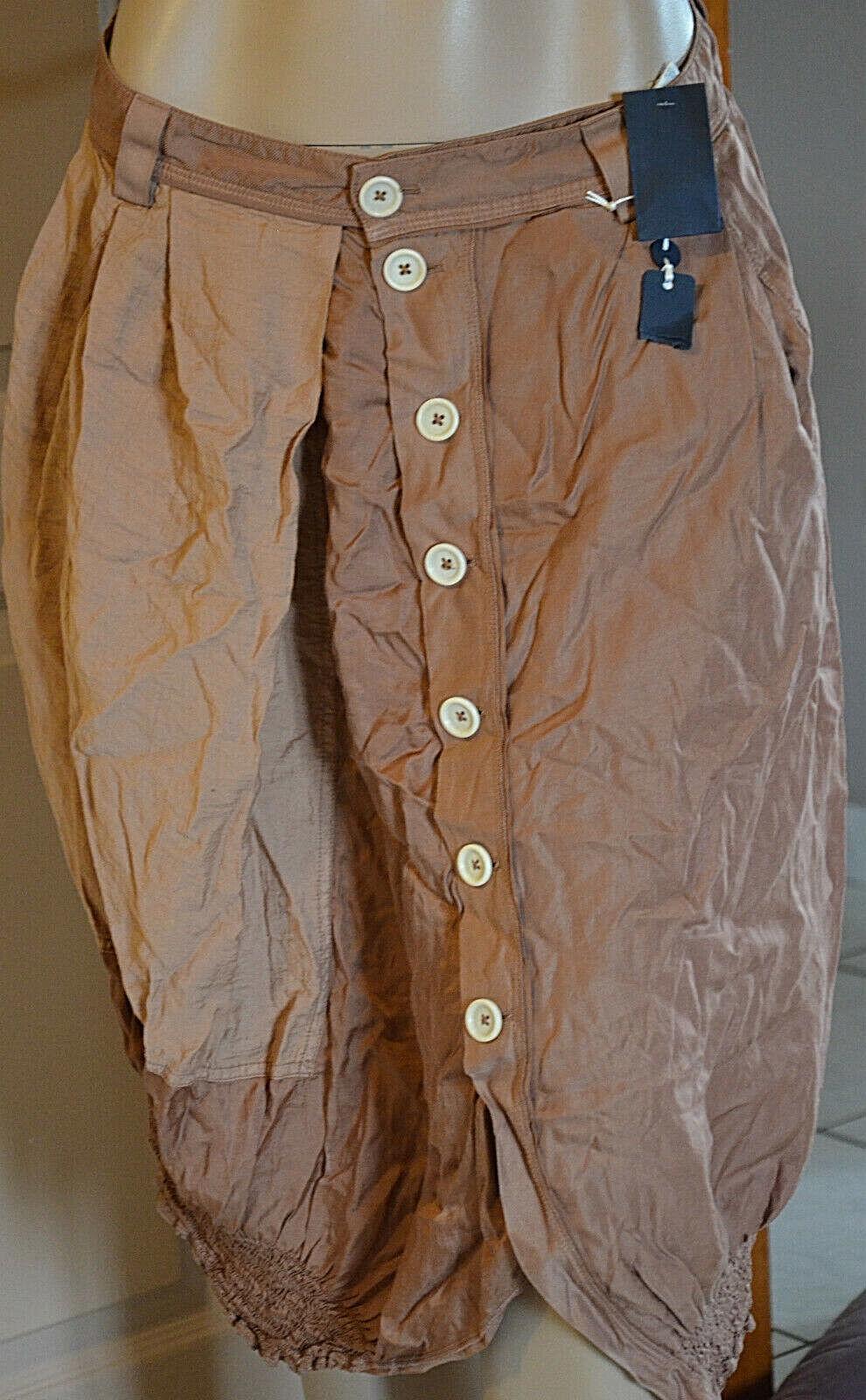 Luxueuse jupe asymétrique Marronee cuivré HIGH USE USE USE Dimensione 36 fr 40i TOUTE NEUVE 0bcb95
