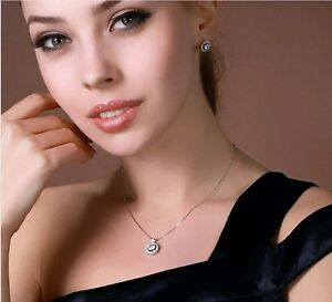 18-034-Sterling-Silver-Cubic-Zirconia-Stones-Pendant-Necklace-Stud-Earrings-Set